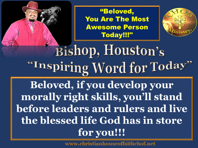 Bishop' inspirational word week 2